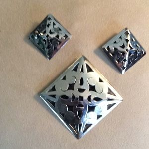 VINTAGE MEXICO Jewelry - Vintage Sterling Open Work Set